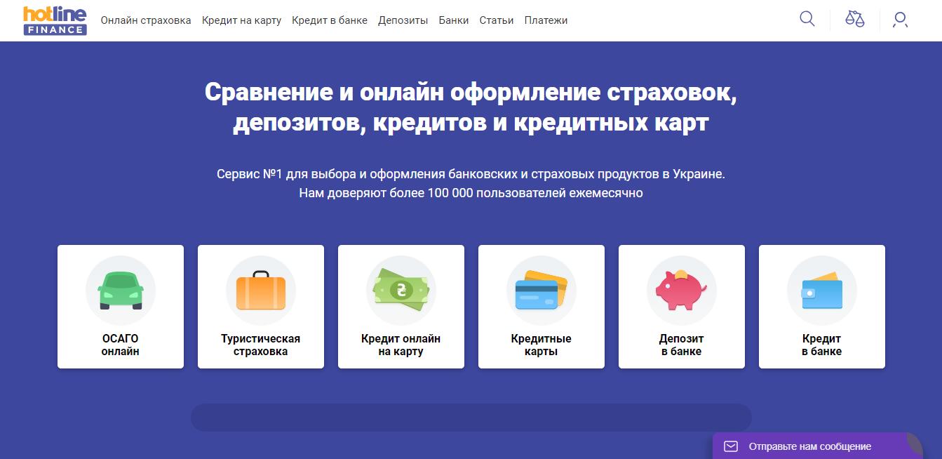 Сайт для сравнения кредитов