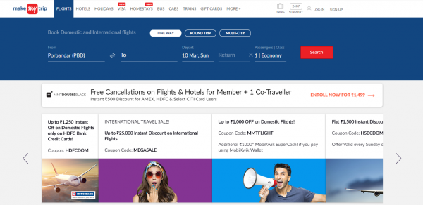 Flight Booking, Flight Tickets Booking at Lowest Airfare | MakeMyTrip