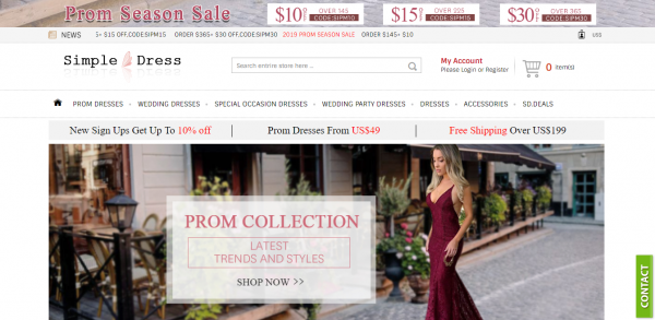 Prom Dresses, Evening Dresses, Bridal Gowns & Accessories for Hot Sale | Simple-dress.com