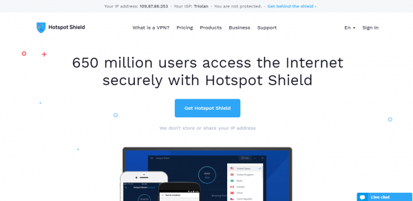 Hotspot Shield VPN, The Fastest Most Secure Virtual Private Network