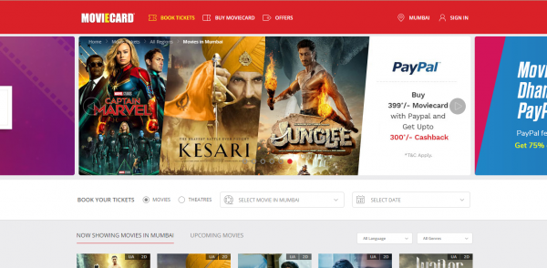 Buy Online Tickets for Movies and Theater from Moviecardindia.com across India