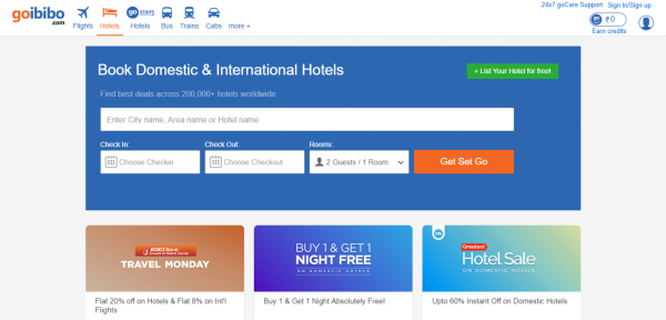 Online Hotel Booking | Book Cheap, Budget and Luxury Hotels -Goibibo